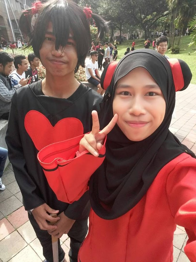 Pucca and Garu cosplay in Comic Fiesta 2017