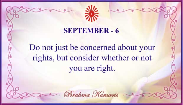 Thought For The Day September 6