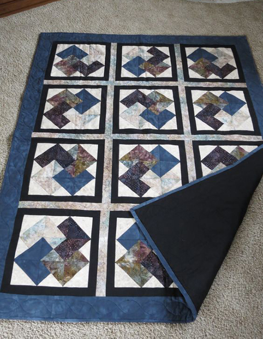 Card Trick Quilt Block Free Tutorial designed by Kim Sherrod for Moda Bake Shop