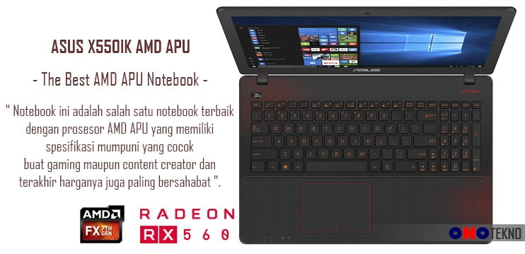 "THE BEST 10 NOTEBOOK ASUS 2017 "" ASUS X550IK AMD """