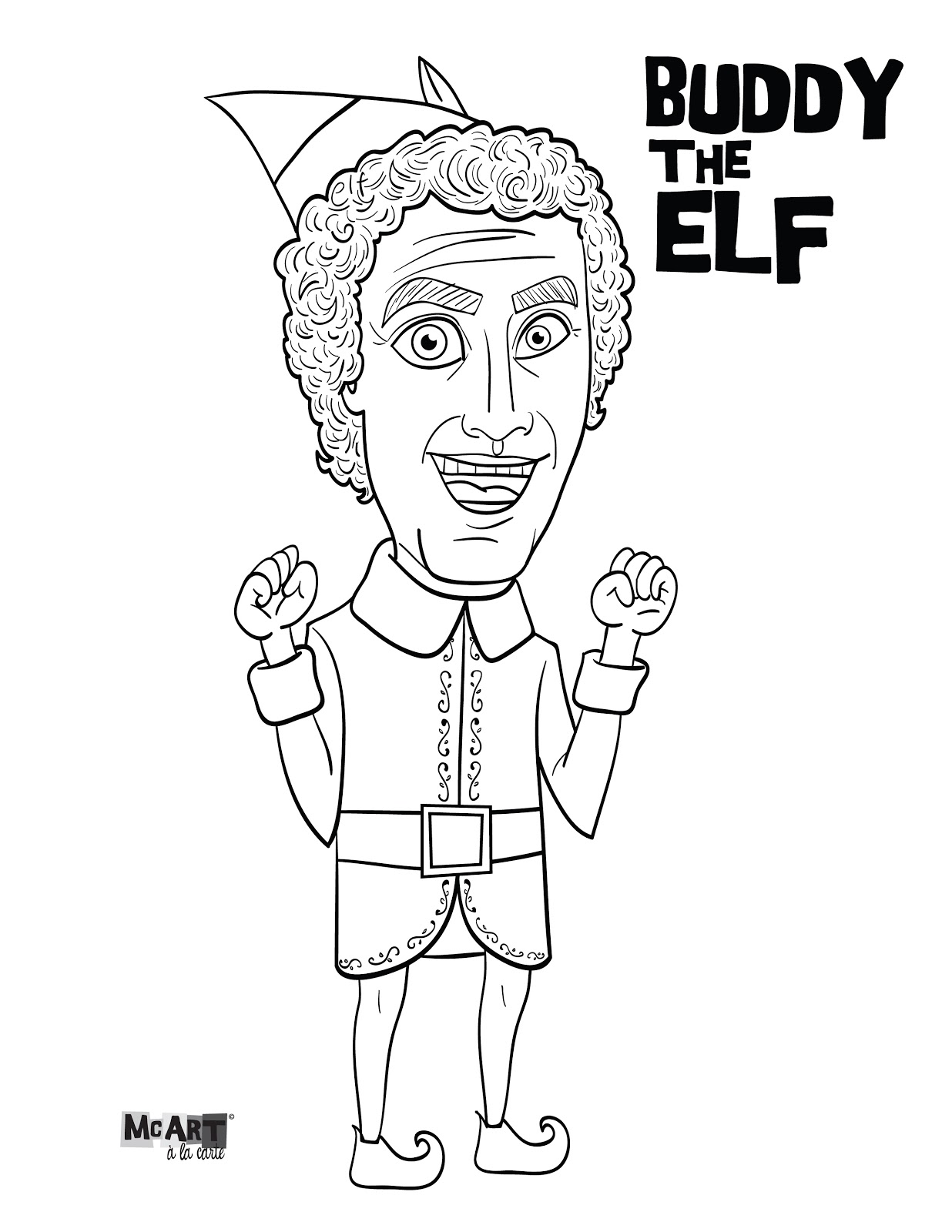 Elf On The Shelf Color Pages