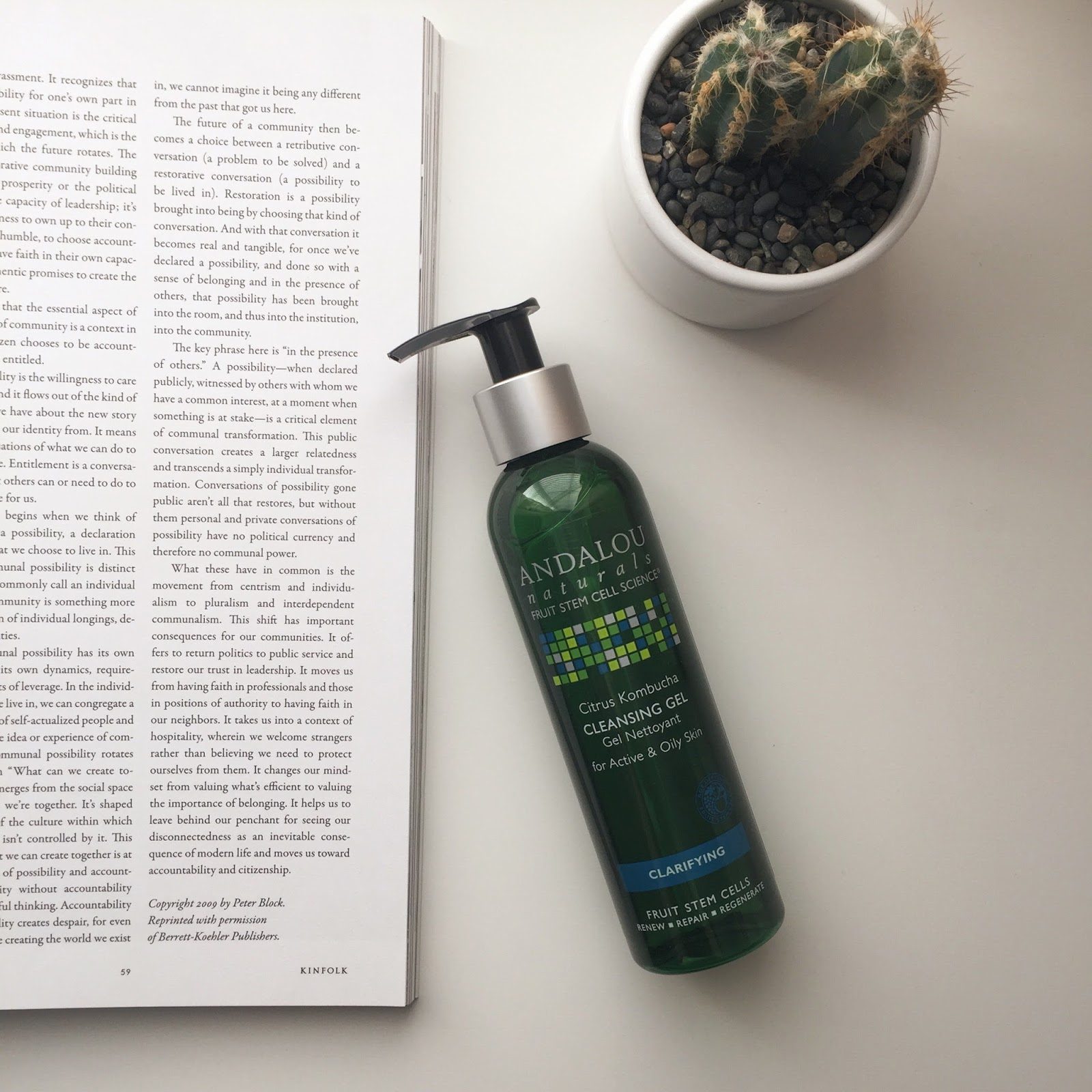 Andalou Naturals Citrus Kombucha Cleansing Gel for Active & Oily Skin