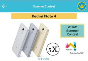 Wham app Loot Summer Contest 2017