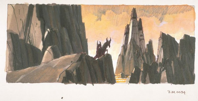Vader's castle sketch by Ralph McQuarrie
