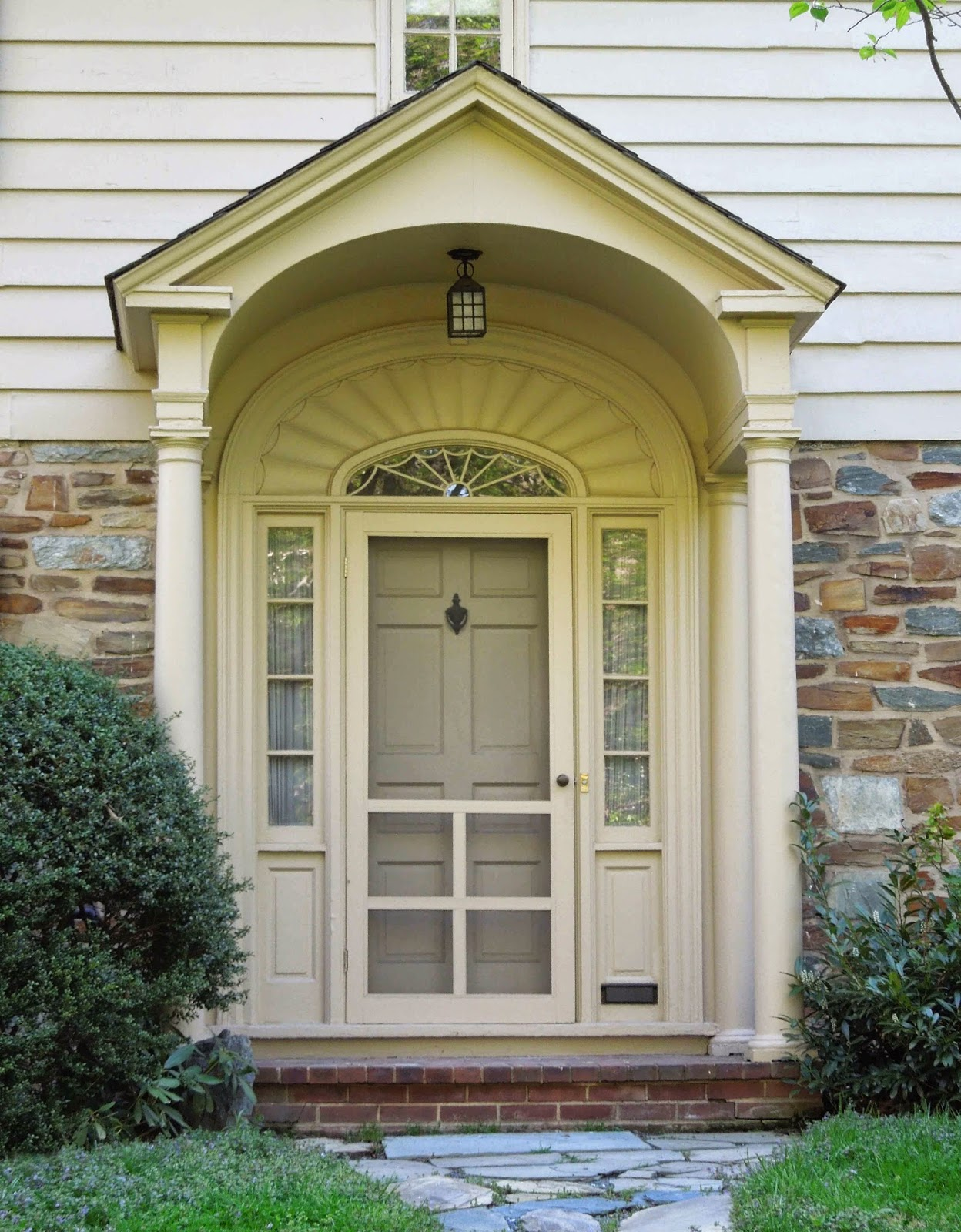 Tone on tone storm doors ideas and inspirations for Colonial entry door