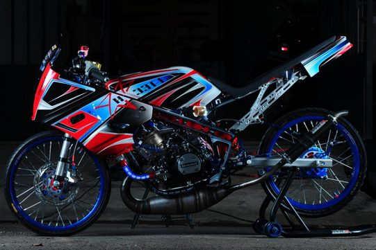 Modif Ninja R Gaya Moge Motor Gede - Cara Modifikasi Ninja R 150 Super Kips 2 Tak Gaya Simpel Minimalis Terbaru