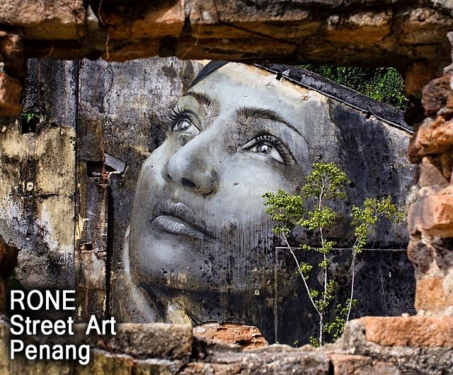 Penang Street Art Photos Rone