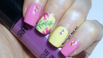 Tropical Flower Nail Art Design - Summer Nails
