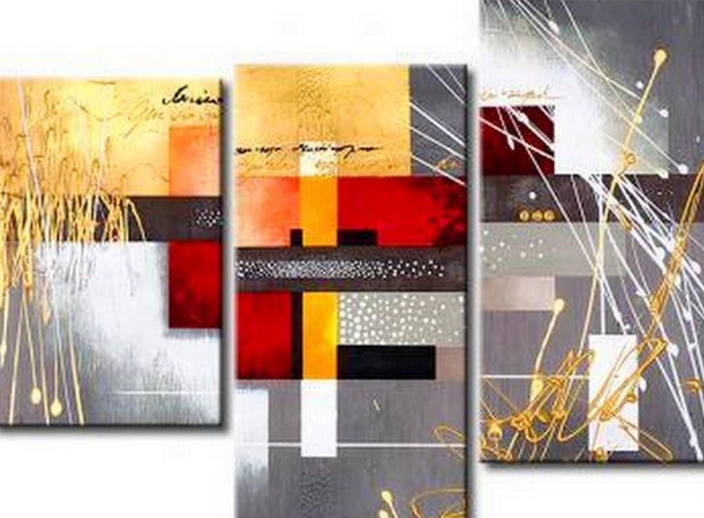 Cuadros pinturas oleos abstracto - Pintar un cuadro moderno ...