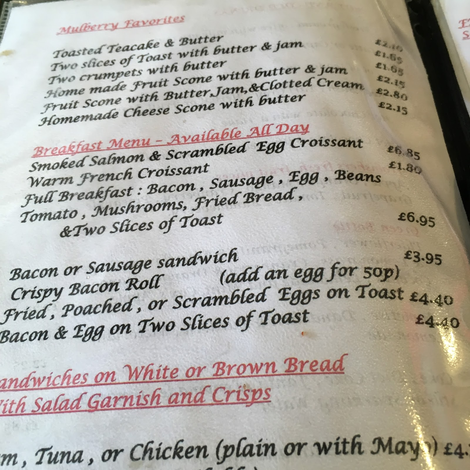 The Fry up Inspector: The Mulberry Tearoom - Sheringham