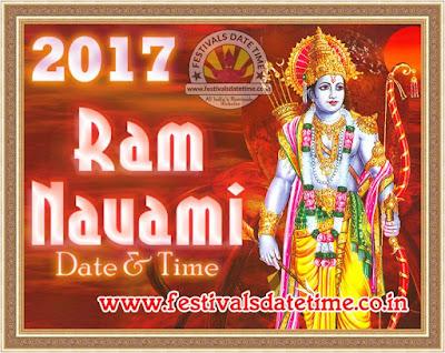 2017 Ram Navami Date & Time, राम नवमी 2017 तारीख व समय