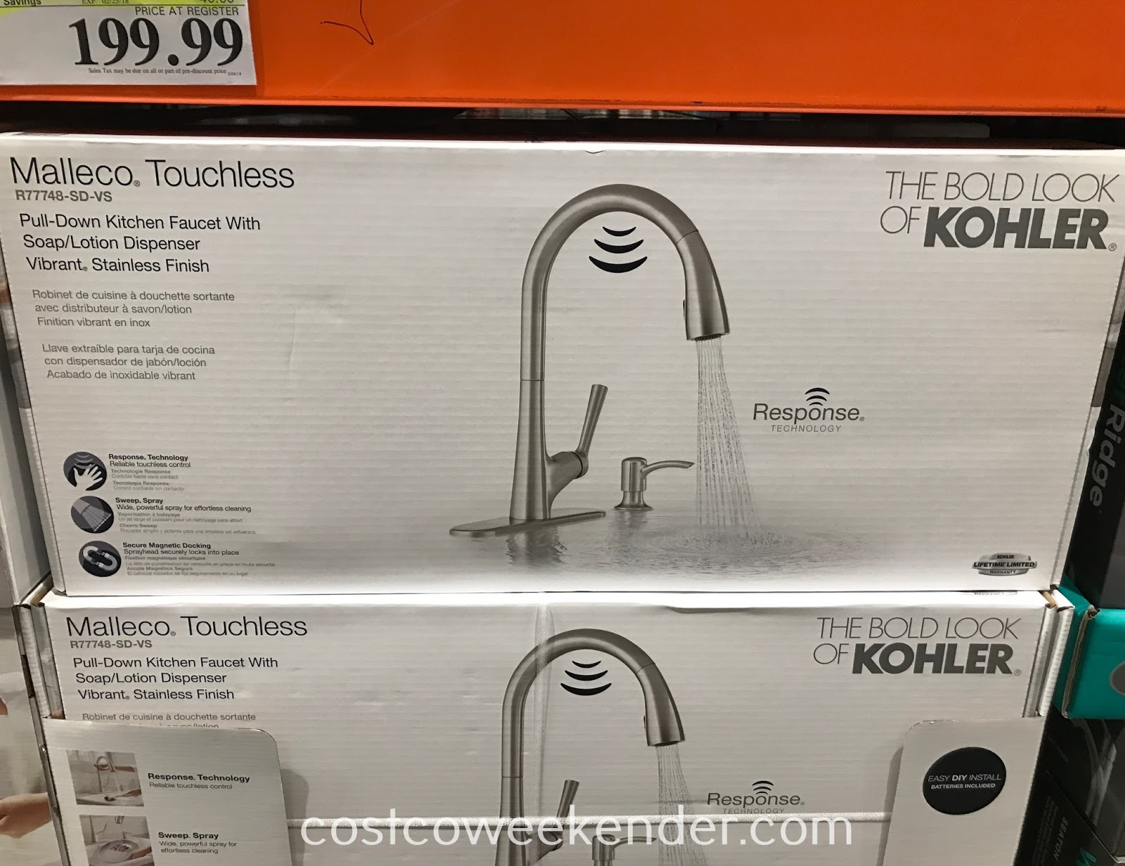 Kohler Malleco Touchless Pull Down Kitchen Faucet