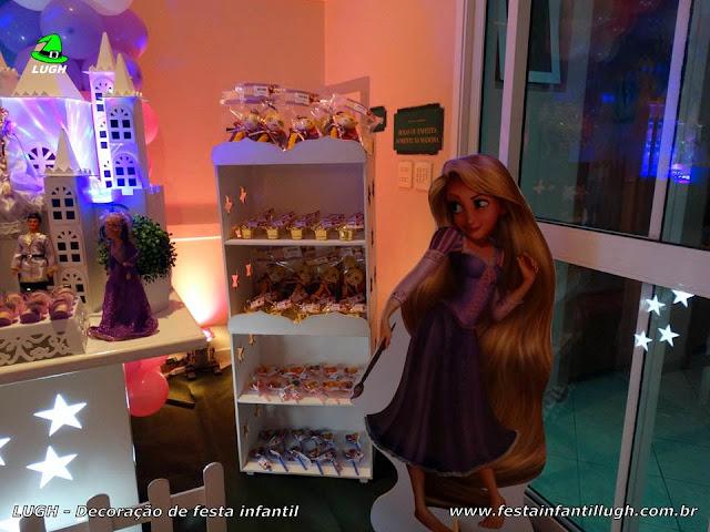 Decoração Os Enrolados (Rapunzel) - Mesa temática - Festa infantil