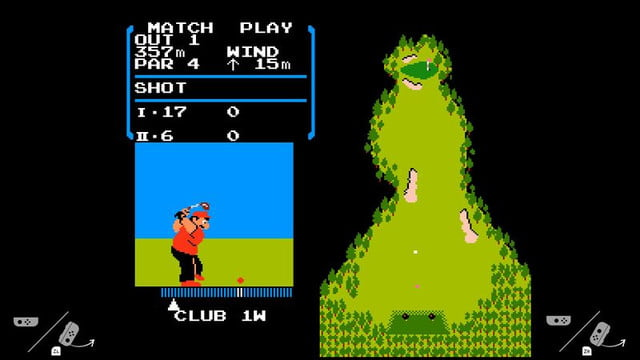 O game Golf realmente existe no console, mas somente funciona com consoles que nunca foram conectados a Internet.