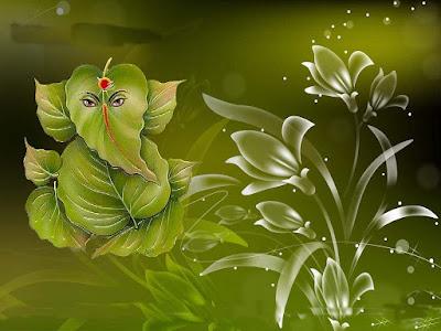 green-ganesha-images
