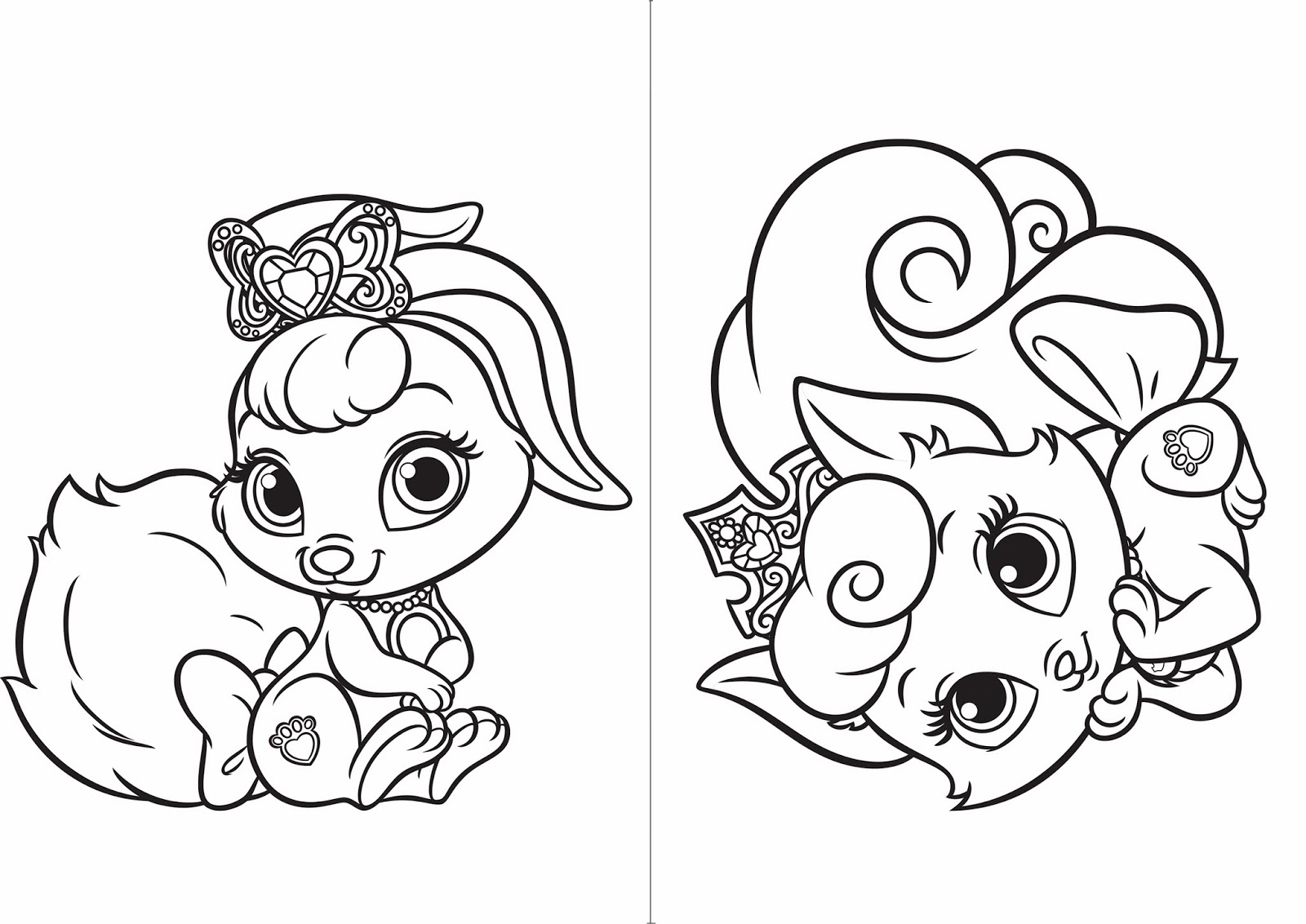 palace pets coloring pages berry - photo #17