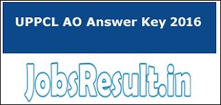 UPPCL AO Answer Key 2016
