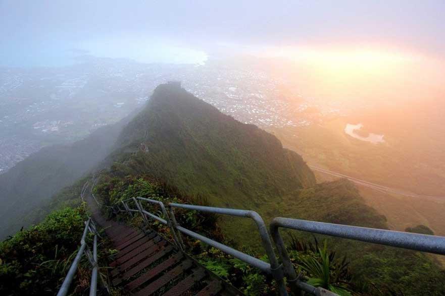 Sitio Hermoso y Peligroso, Las Escaleras de Haiku, Hawaii 1