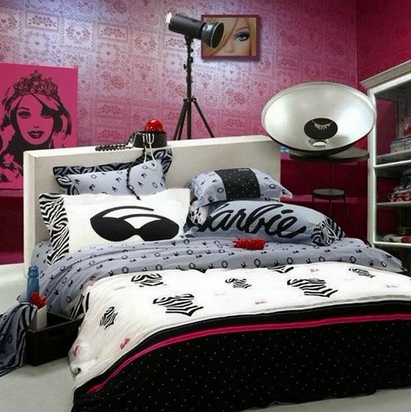 Cuarto color rosa y negro