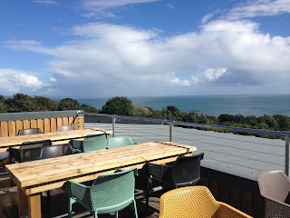 View over Lyme Bay from Ode&Co