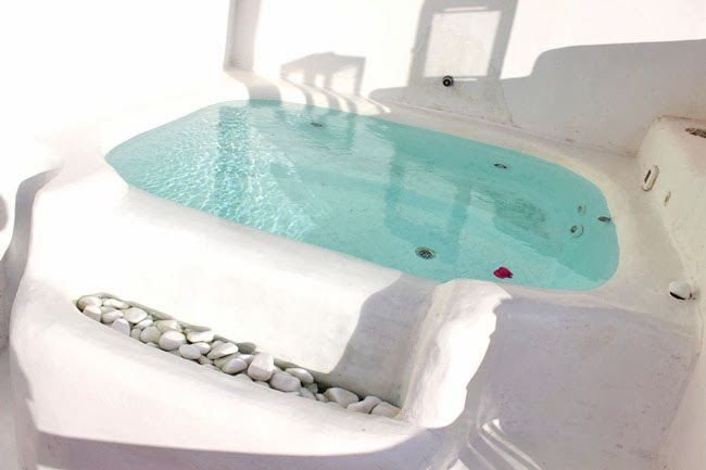 Rocabella Hotel Honeymoon suite outdoor jacuzzi