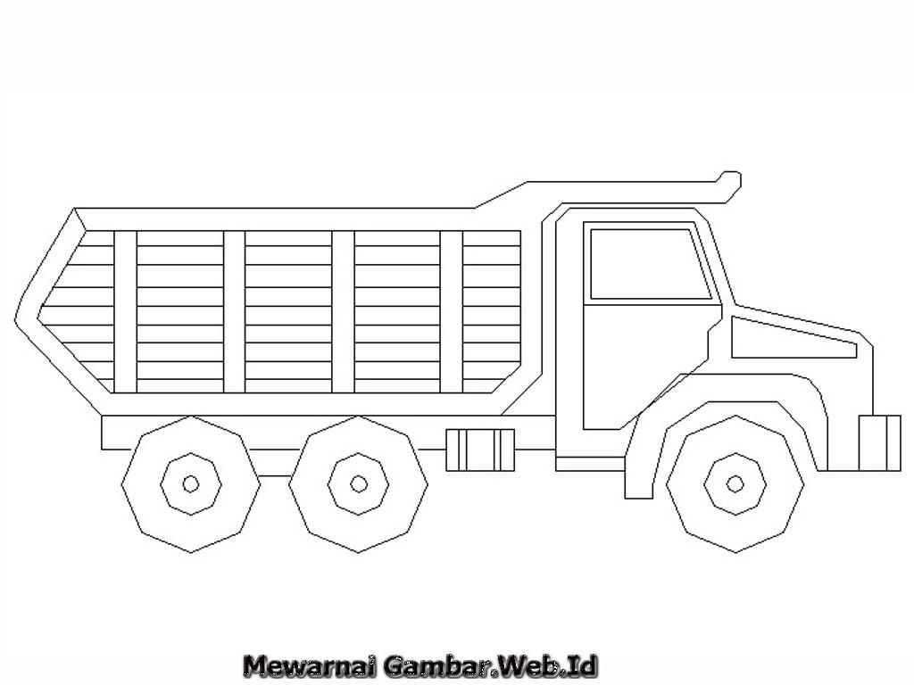 Truck Coloring Picture Gambar Belajar Mewarnai Truk