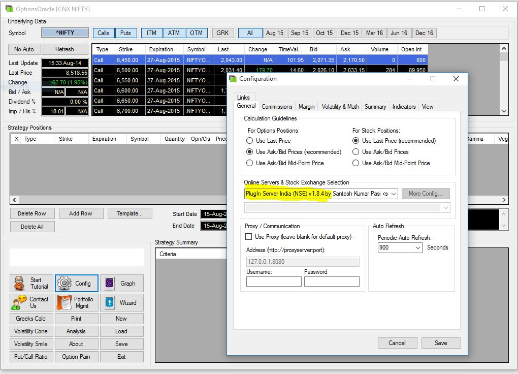 Options Oracle NSE Plugin (Beta)