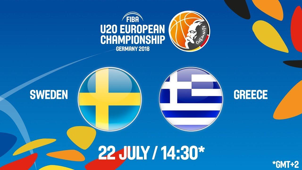 Σουηδία - Ελλάδα ζωντανή μετάδοση στις 15:30 από την Γερμανία, για το Ευρωπαϊκό Νέων Ανδρών (Θέσεις 13-14, αγώνας παραμονής στην Α' κατηγορία)