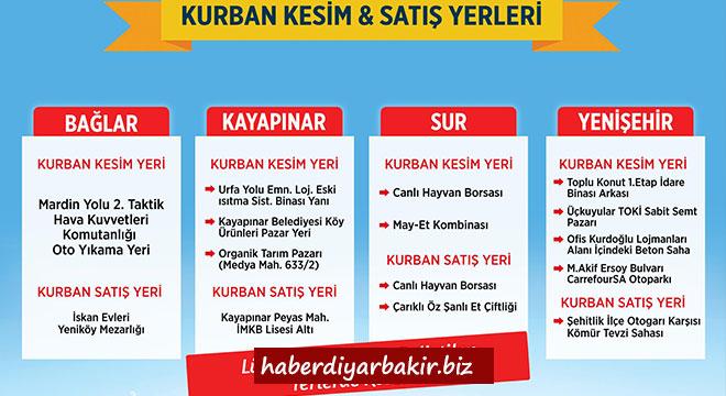 Diyarbakır Büyükşehir Belediyesi, kurban satış ve kesim yerlerini belirledi