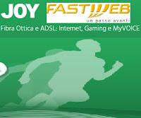Offerta Fastweb Joy per navigare in internet con Fibra Ottica o ADSL
