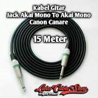 Kabel Gitar Jack Akai Mono To Akai Mono Canon Canare 15 Meter