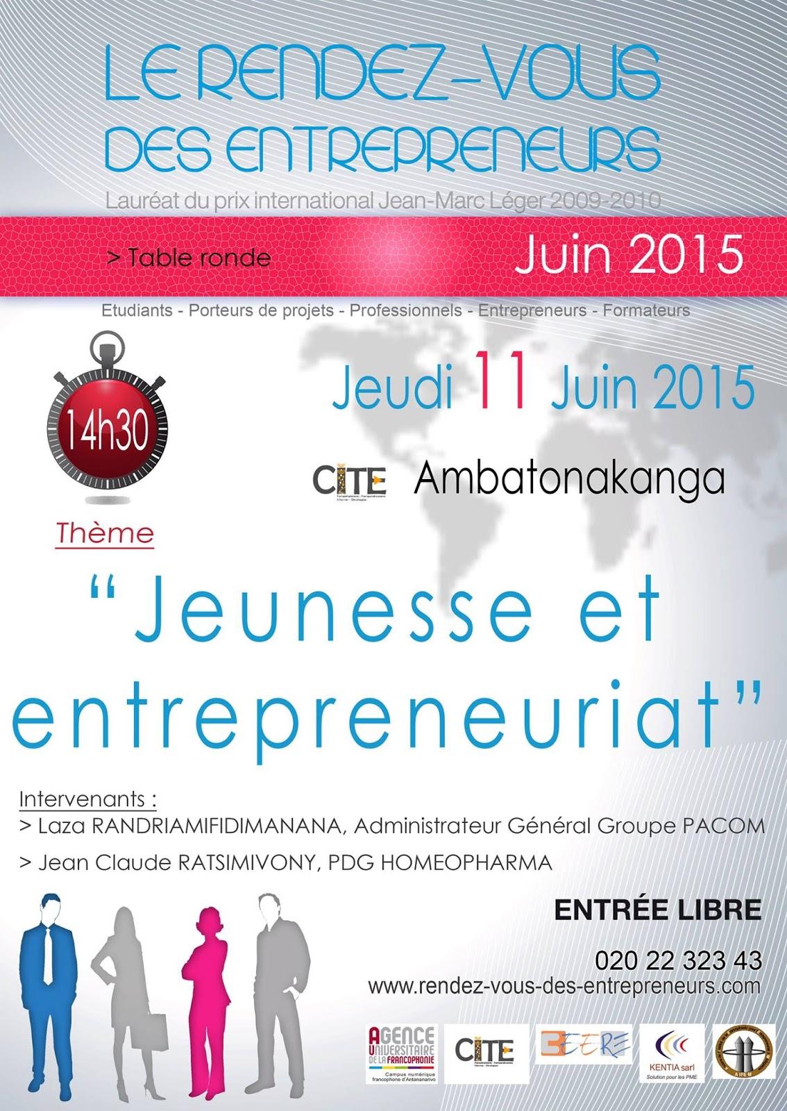 rencontre entrepreneuriat jeunesse 2009