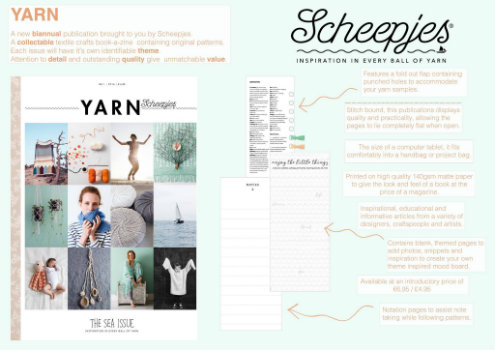 Yarn, the sea issue. New knitting and crochet magazine | Happy in Red