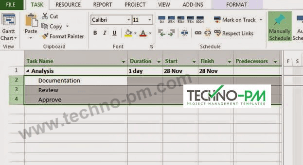 sample ms project plan template free project management templates