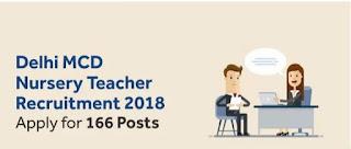 South Delhi MCD Contractual Nursery Teacher Vacancy 2018, Apply Online!