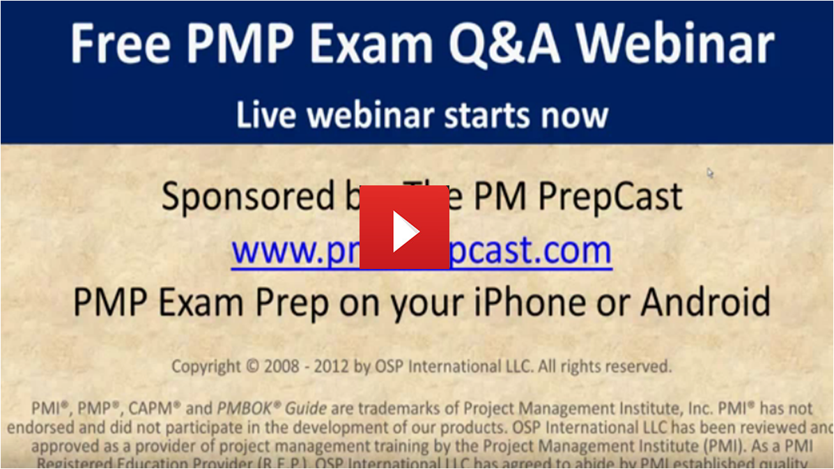 PMP Exam Questions And Answers Webinar - Project Management