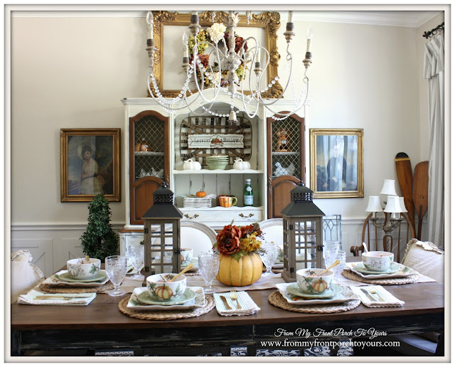 Farmhouse-Fall Dining Room-Table Setting-From My Front Porch To Yours