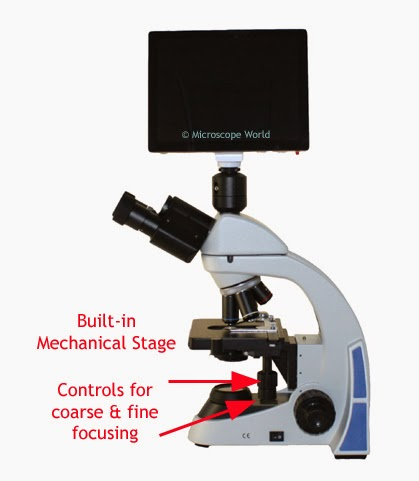 Built-in microscope mechanical stage.