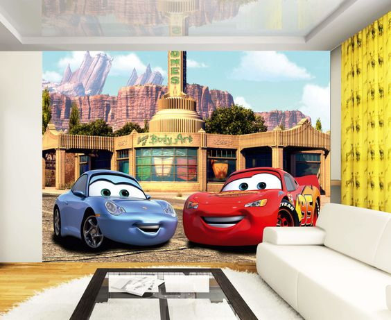 Disney Cars Wall Mural Kids Children