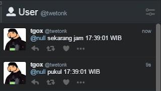 auto tweet null