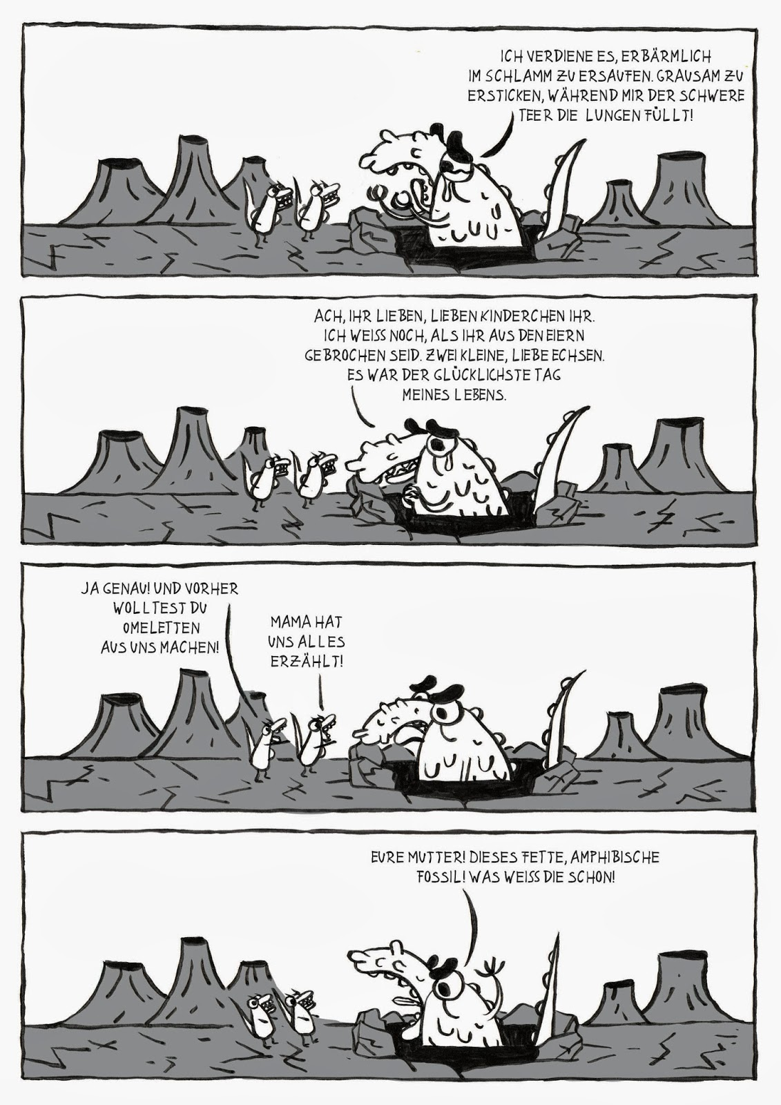 archäologie, knochen, dinosaurier, jpeg, comic