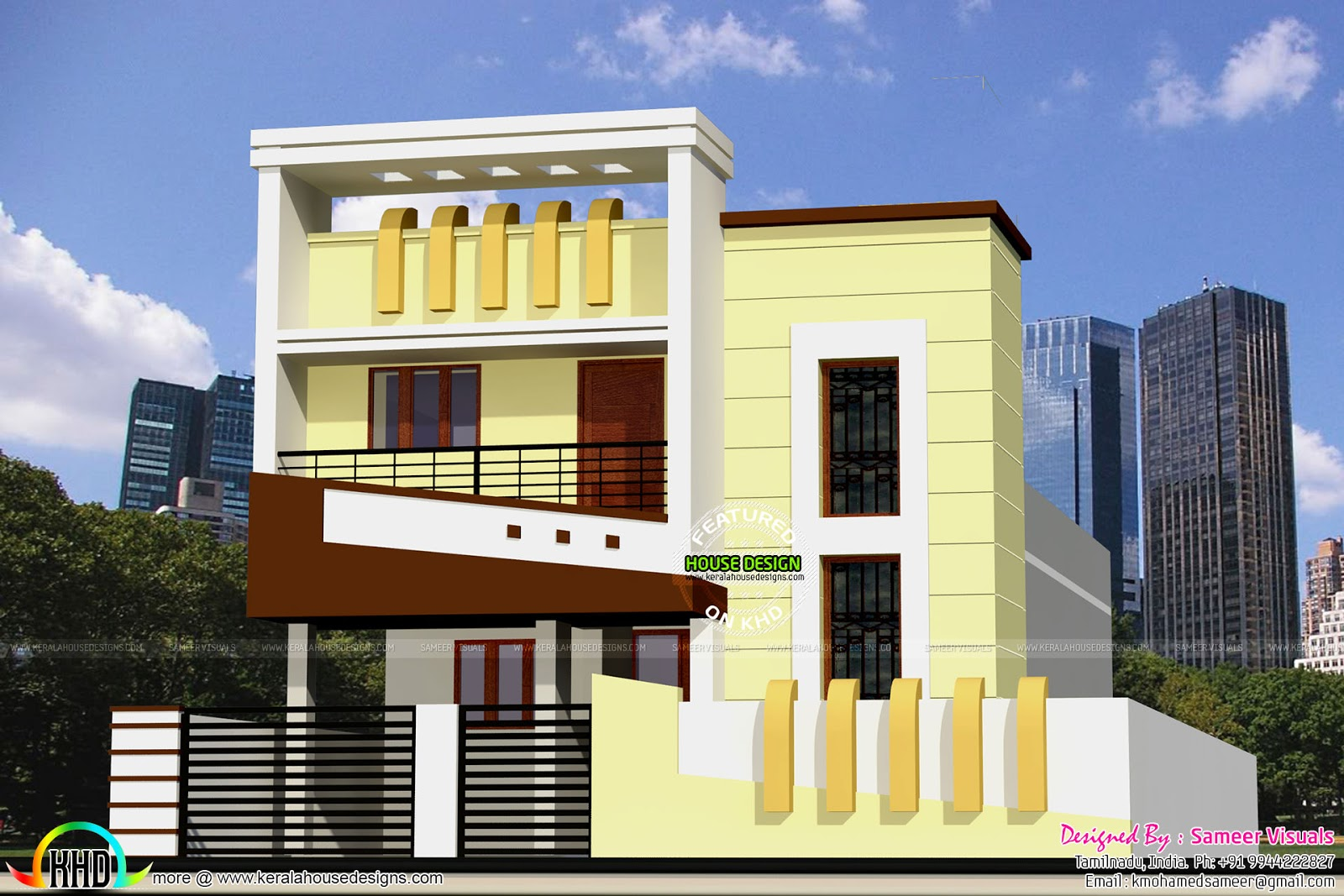 1300 sq ft low budget g 1 house design kerala home for Traditional house designs in tamilnadu