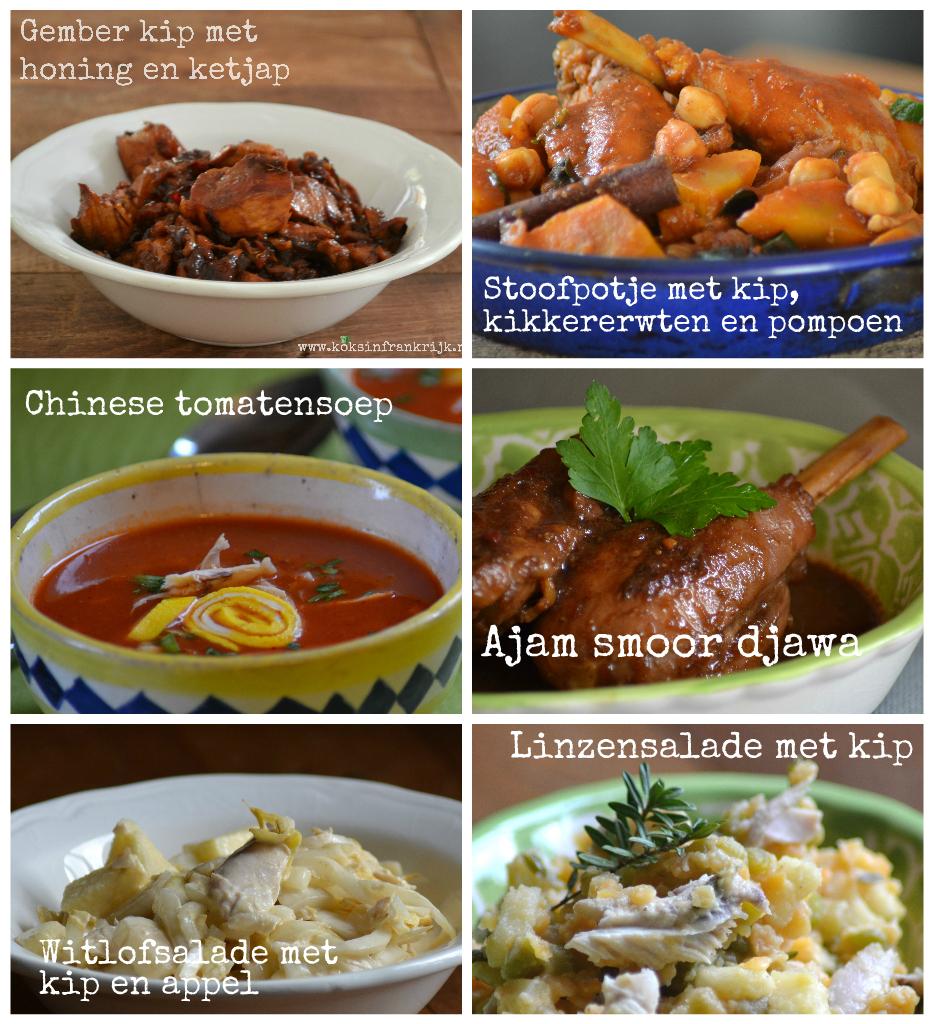 Inspiratie voor het weekend. 6 recepten met kip