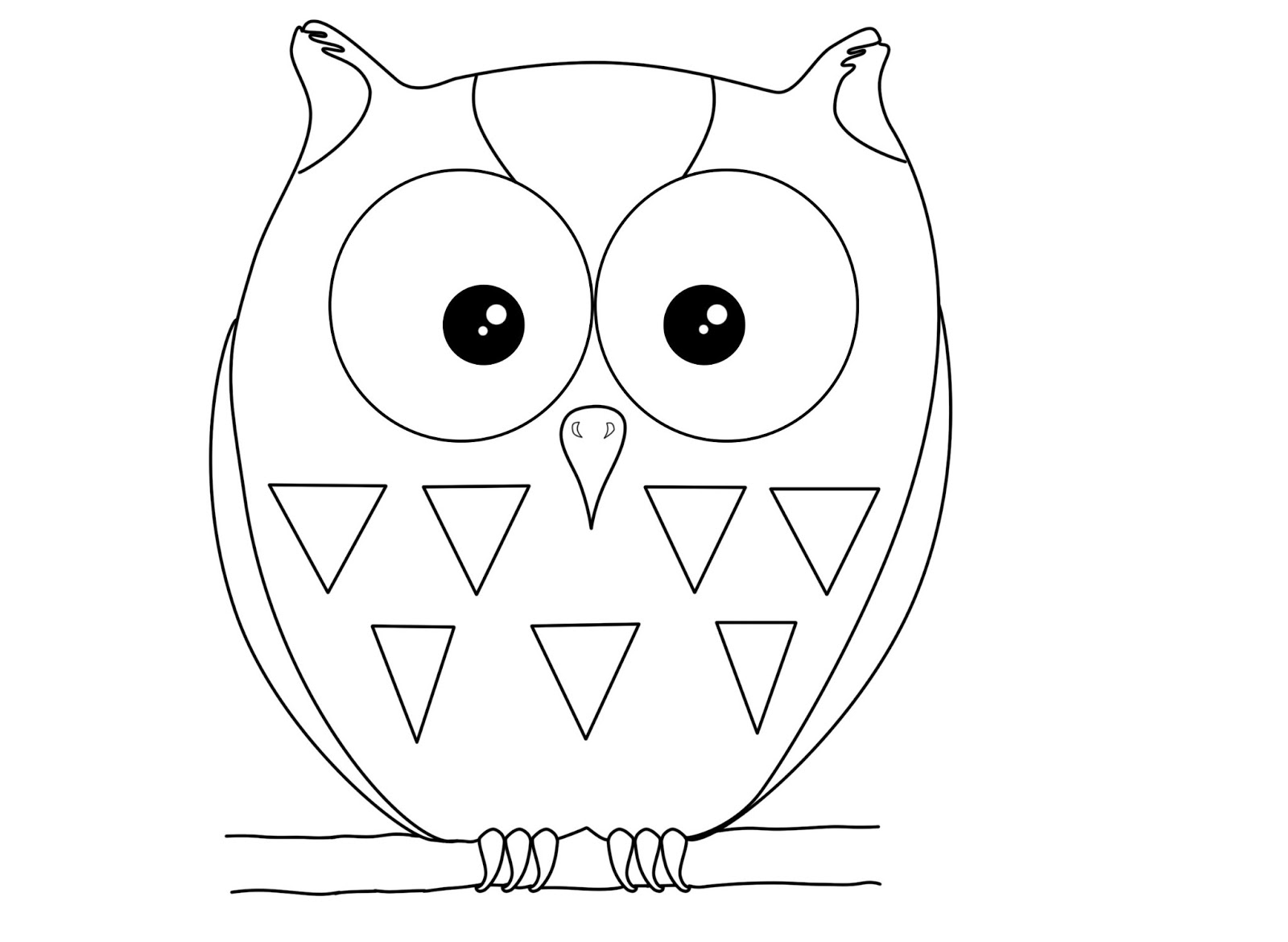 cute owl outline