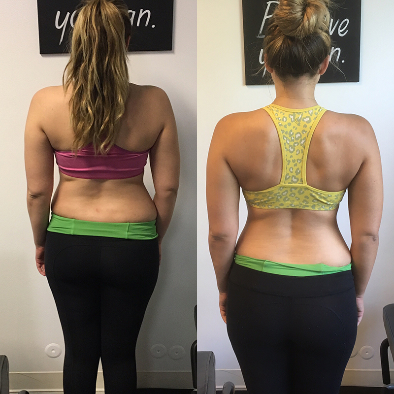 weight training back side before and after