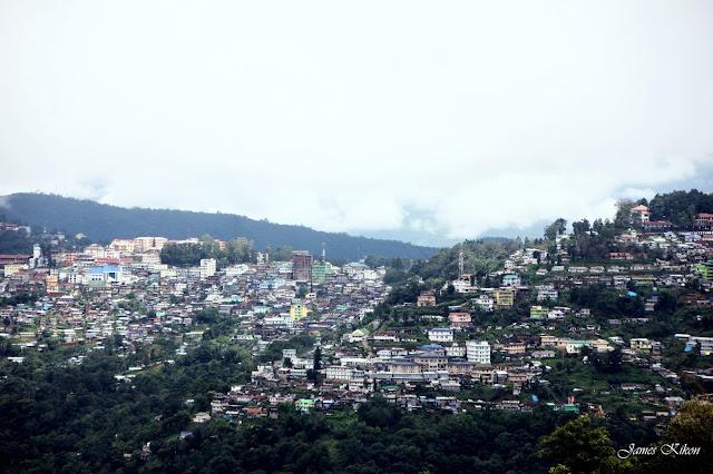 Kohima Town View from Jotsoma Village way to Khonoma Village