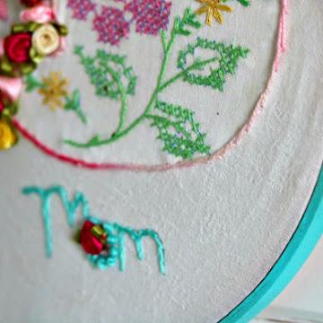 Assembling An Embroidery Hoop Quilt