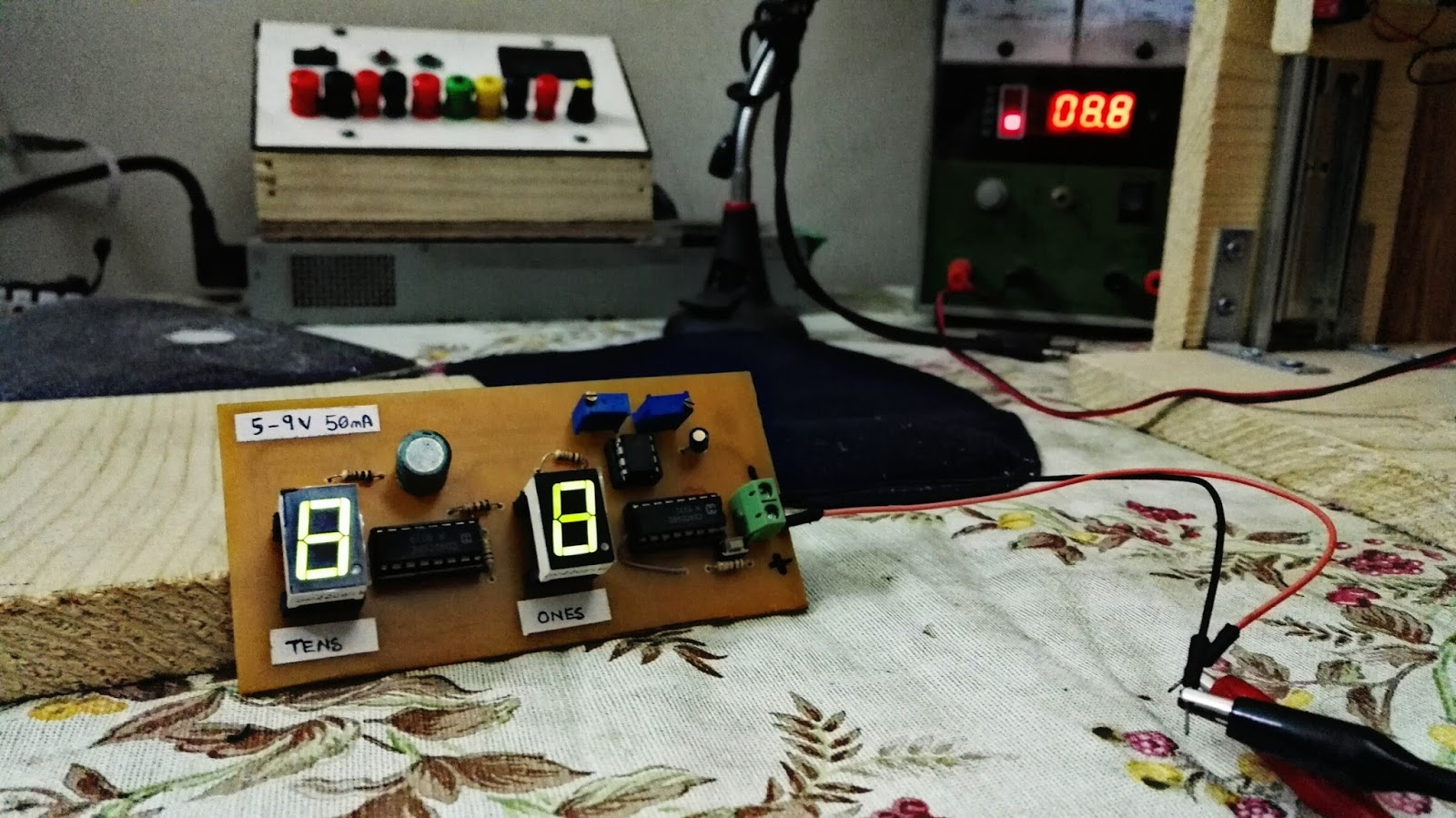 Diy Event Counter Clock Using 555 Timer And Cd4026b Sciengit Digit 7 Segment Display Arduino Also Circuit 4026 Project Picture
