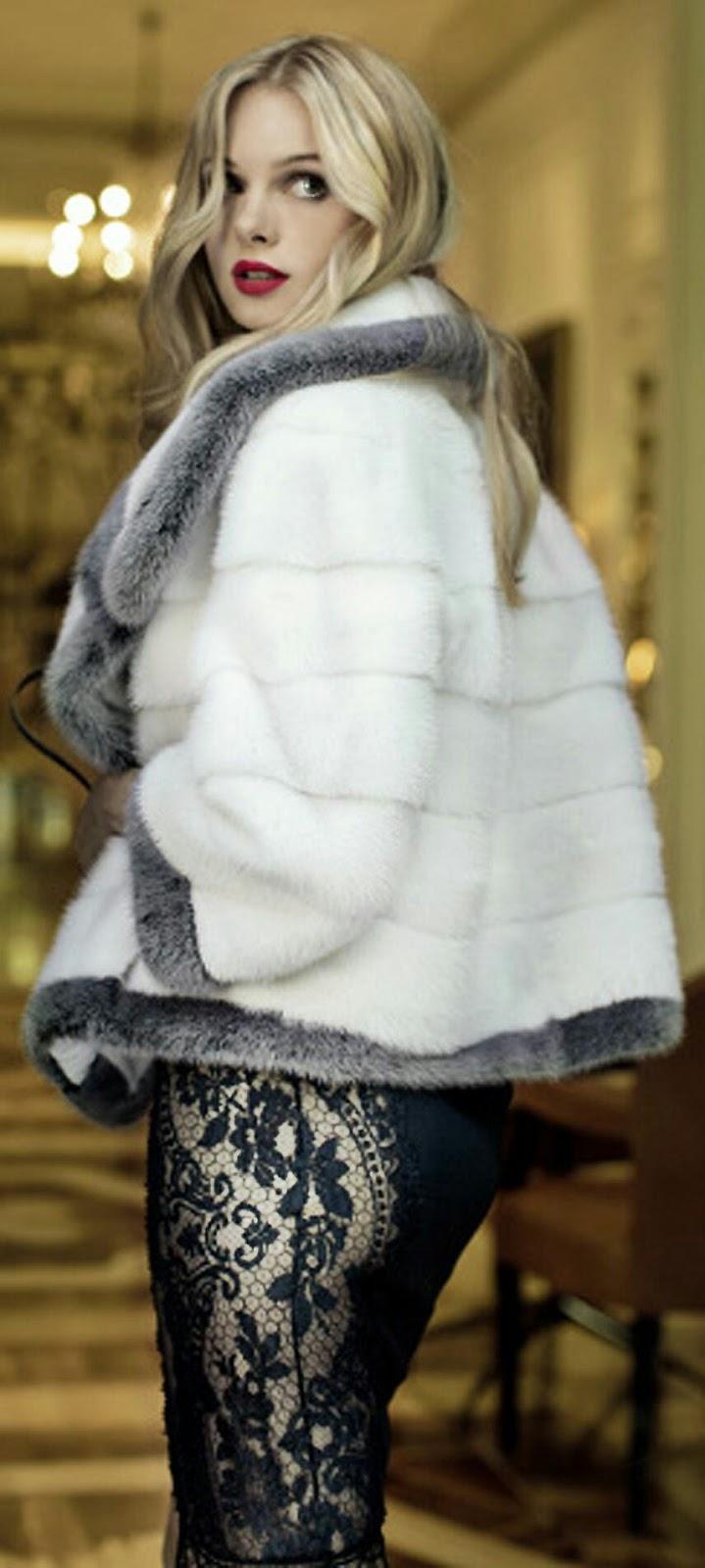 Luxury fur coat