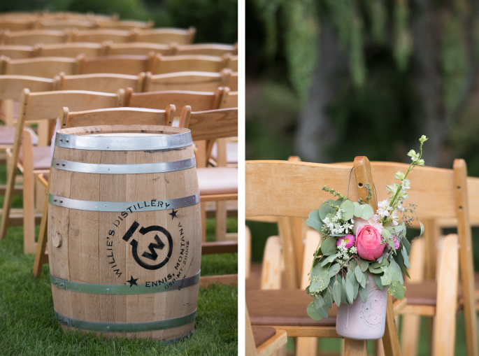 Distillery Barrel / Aisle Flowers / Jessie Moore Photography / Flowers: Melinda Anderson